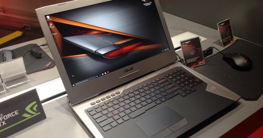 ASUS ROG G752VL-UH71T 17.3-Inch FHD Touchscreen Gaming Laptop under £1000