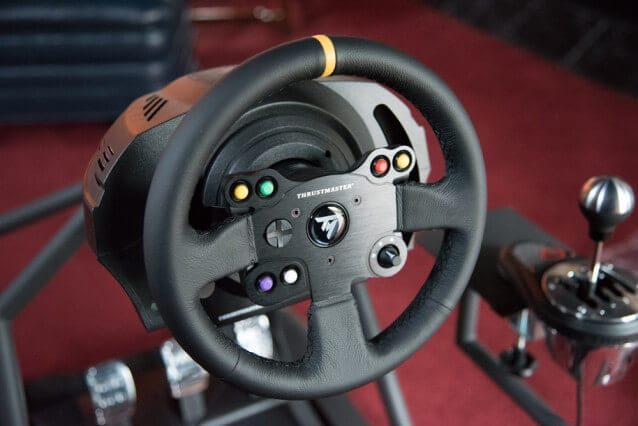 5 (£139) Thrustmaster TM Leather 28 GT Racing Wheel for Xbox One/PS4/PS3/PC DVD
