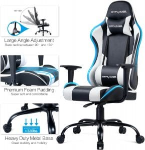 Gtplayer gaming chair review white