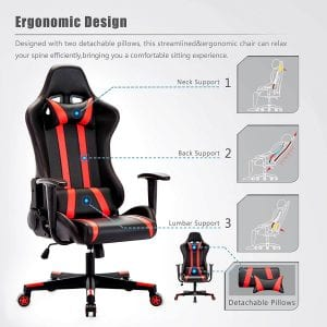 IntimaTe WM gaming chair with lumbar support