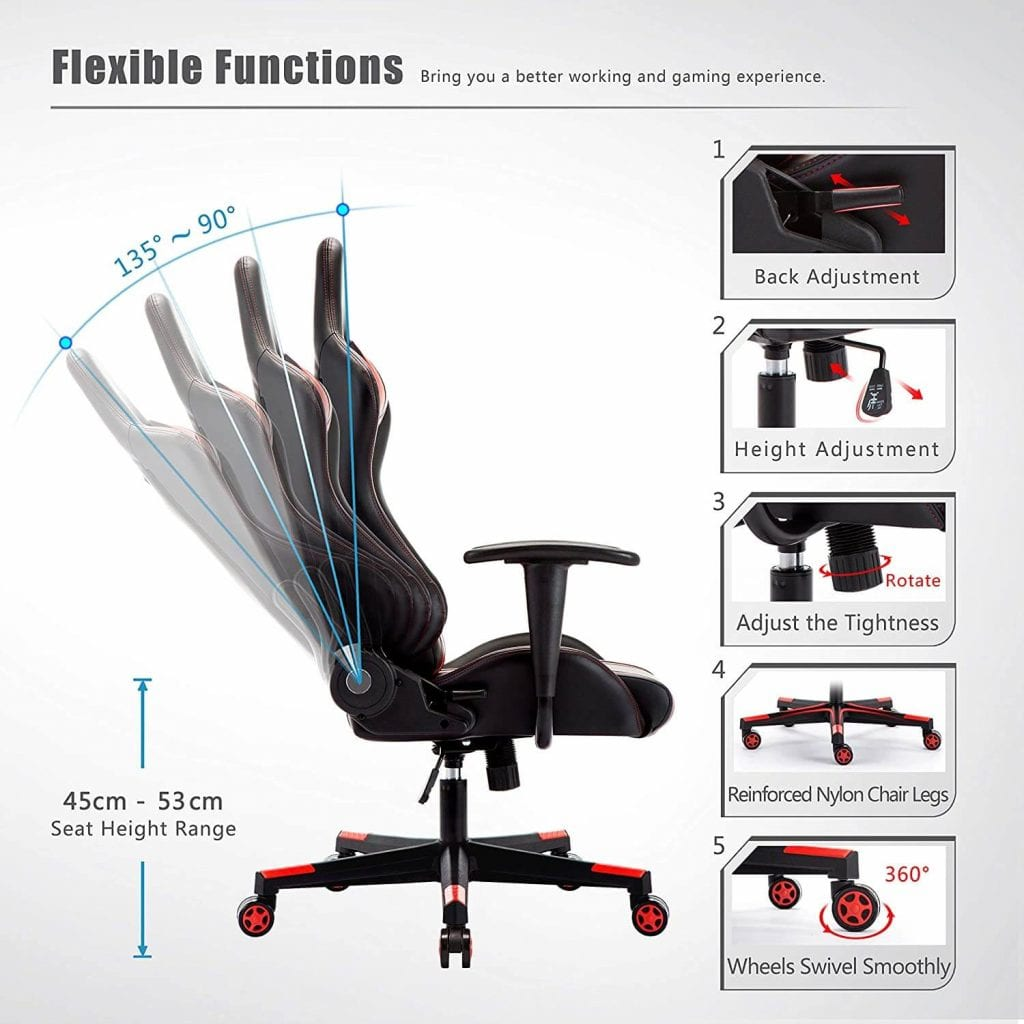 IntimaTe WM reclining gaming chair review