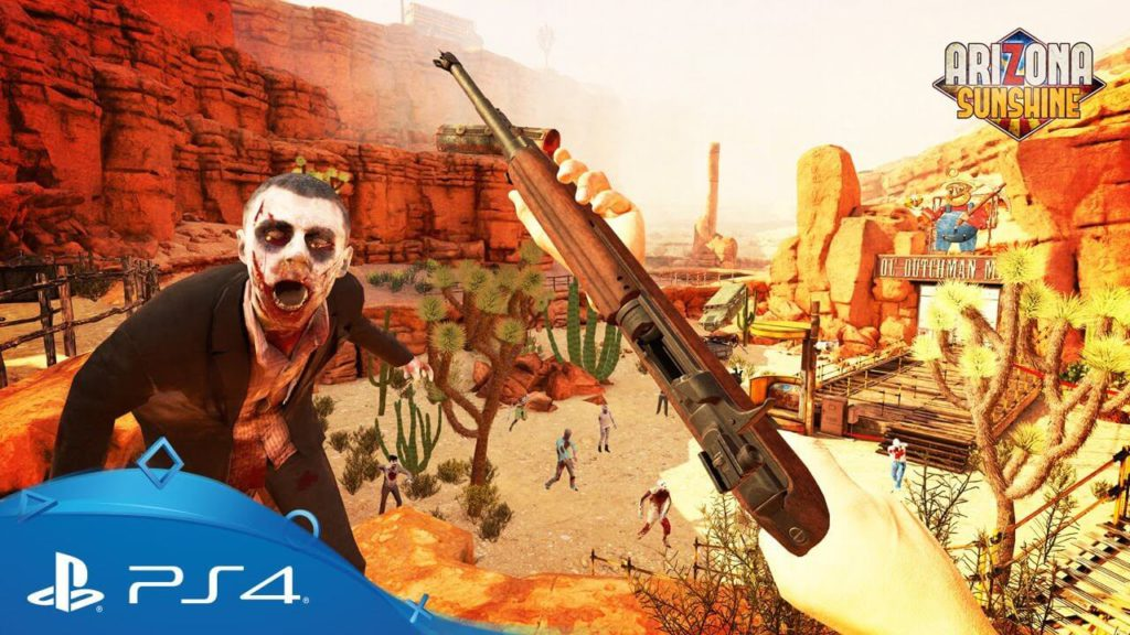 Arizona Sunshine best scary playstation VR compatible game