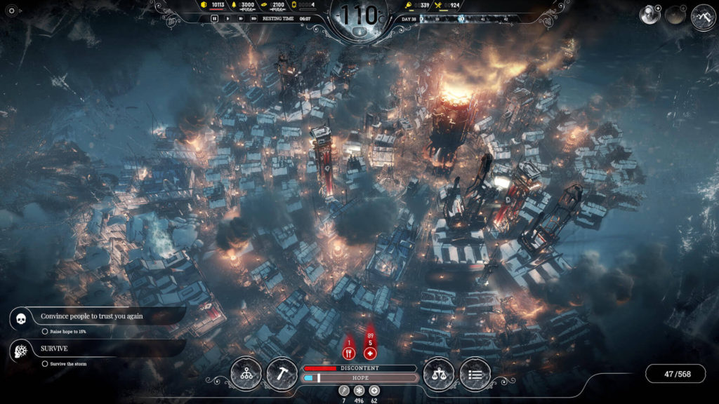 Frostpunk one of the best survival war games available on PS4 and Xbox