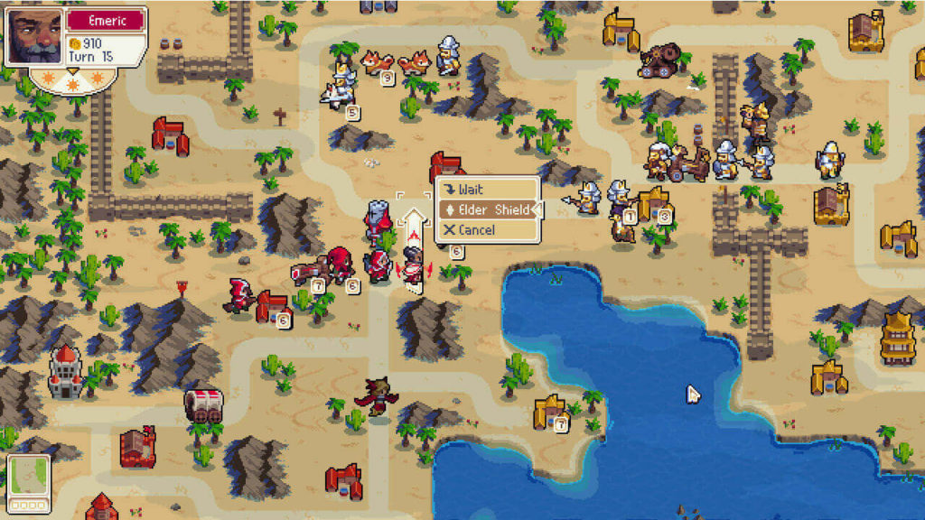 wargroove- retro turn-based combat strategy game for pc