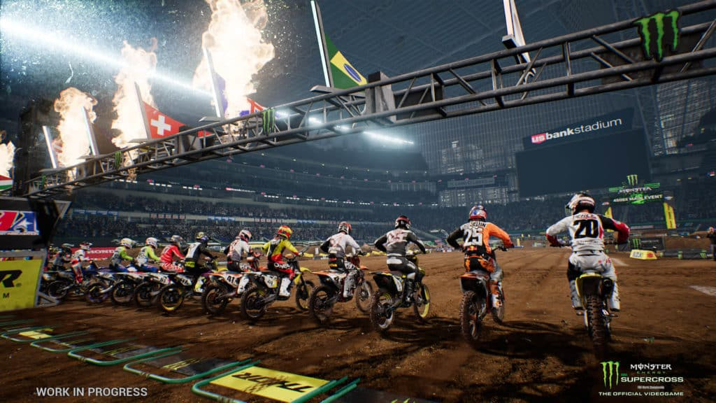 Monster Energy Supercross dirt bike racing game for playstation