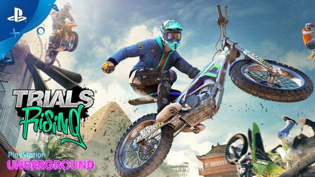Trials Rising Bike multiplayer motorcycle stunt racing game for ps4