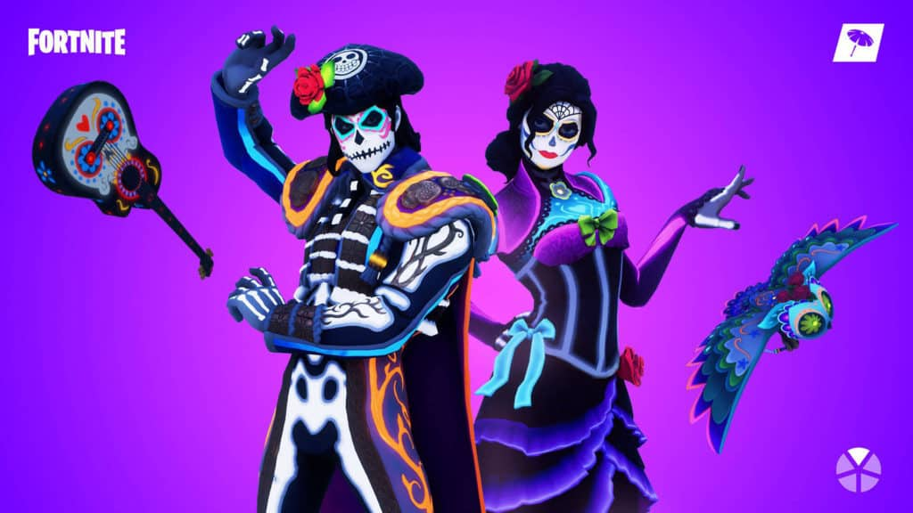 Dante and Rosa of the Muertos Set Fortnite skins and character