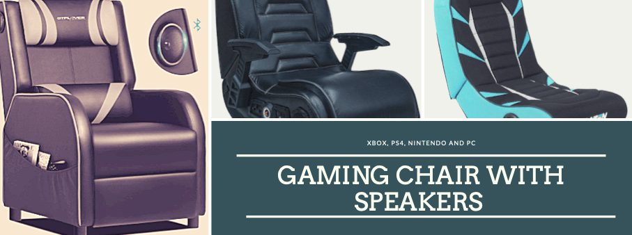 Gaming chair with speakers PC, Xbox & PlayStation