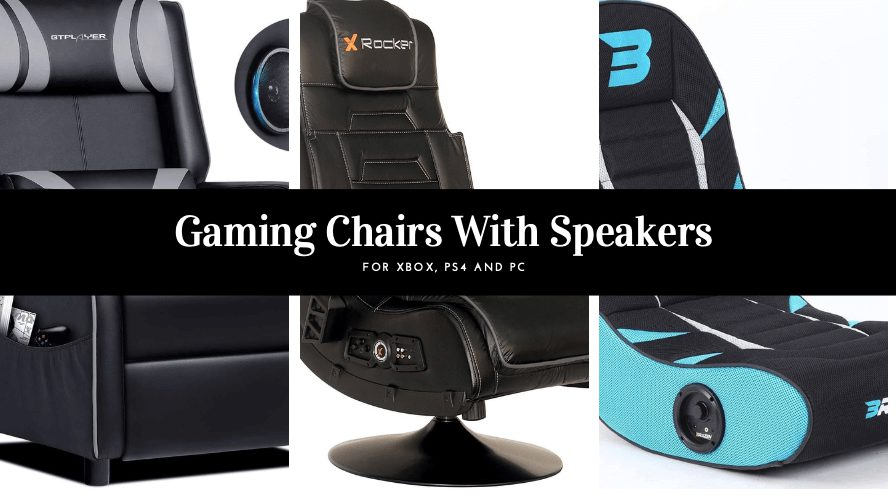 Gaming chair with speakers PC, Xbox & PlayStation bluetooth Gaming Chairs