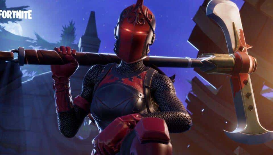 Red Knight popular Fortnite skin and character