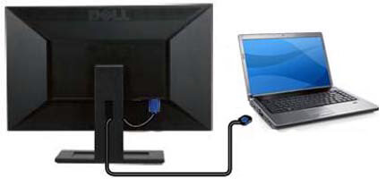 connect laptop to monitor or tv using HDMI cable