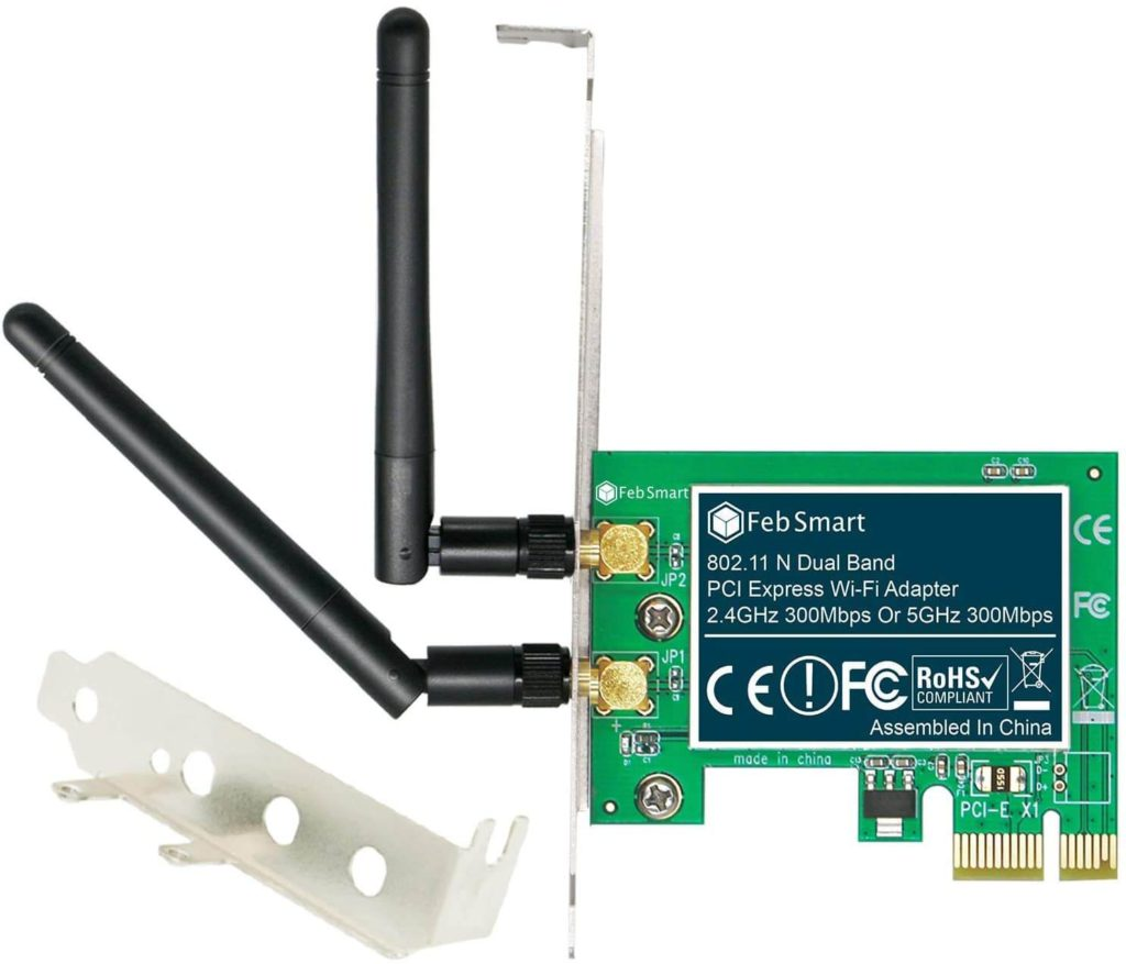 1) FebSmart Wireless Dual Band wifi card for pc