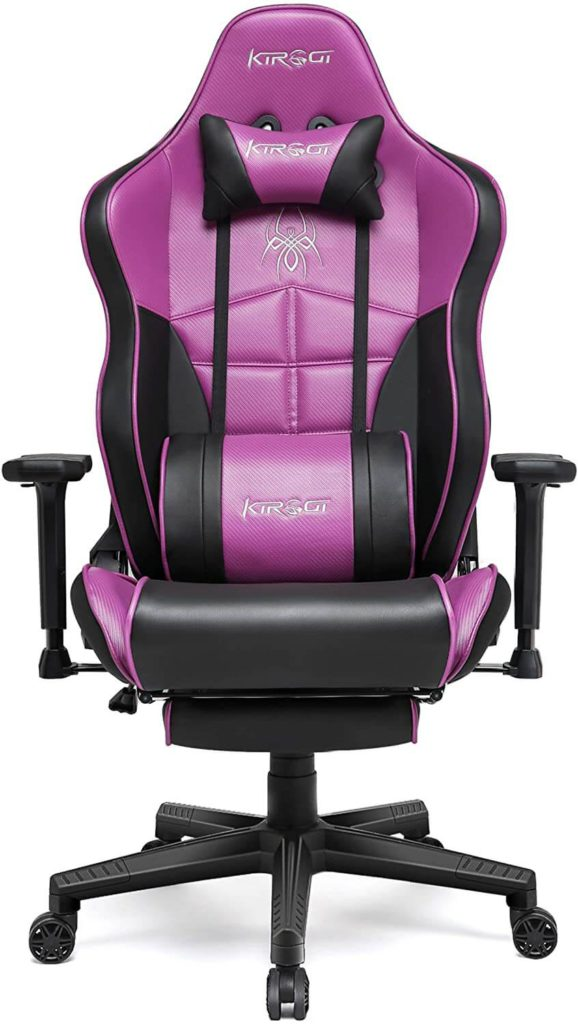 KIROGI purple Gaming Chair with footrest