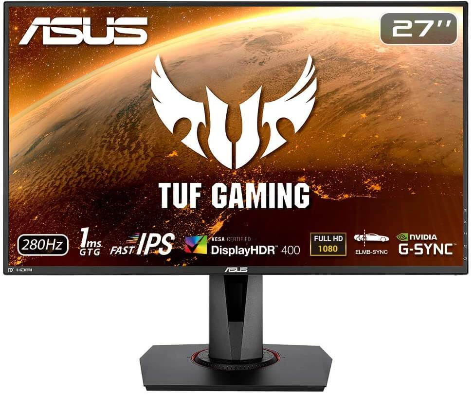 ASUS TUF VG279QM: Best 1080p 240 Hz monitor with  Low Motion Blur
