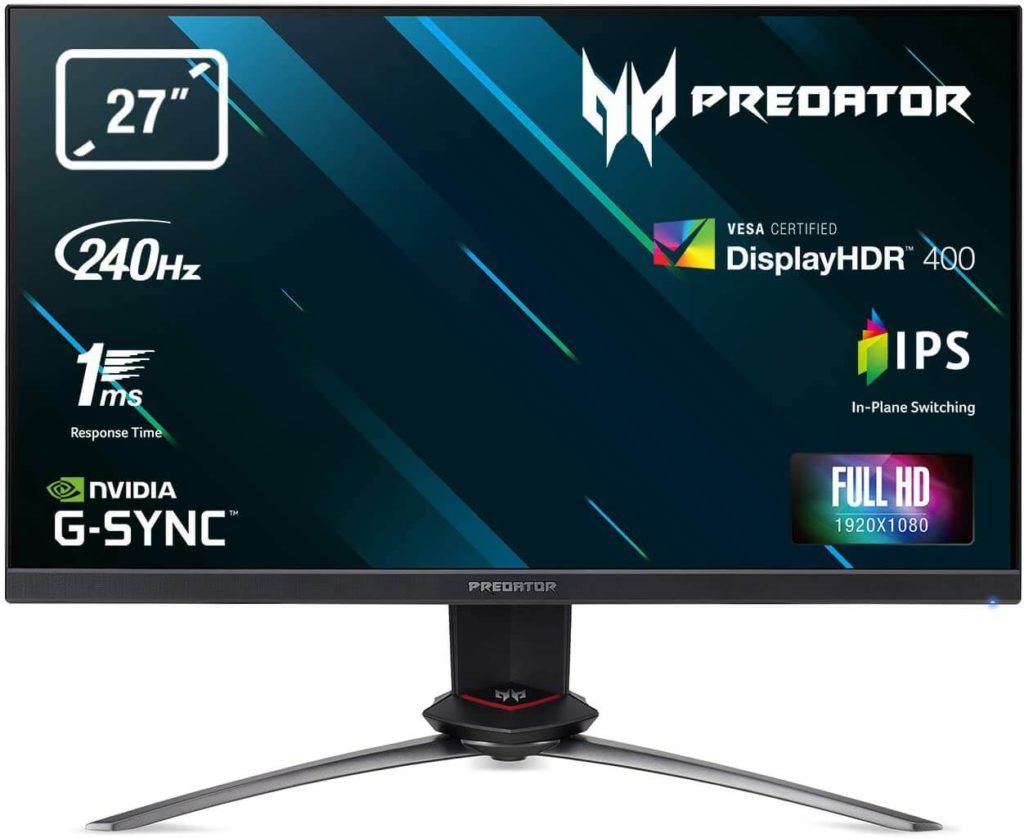 Acer Predator XB273GX 27 inch 240hz 1ms monitor with G-Sync