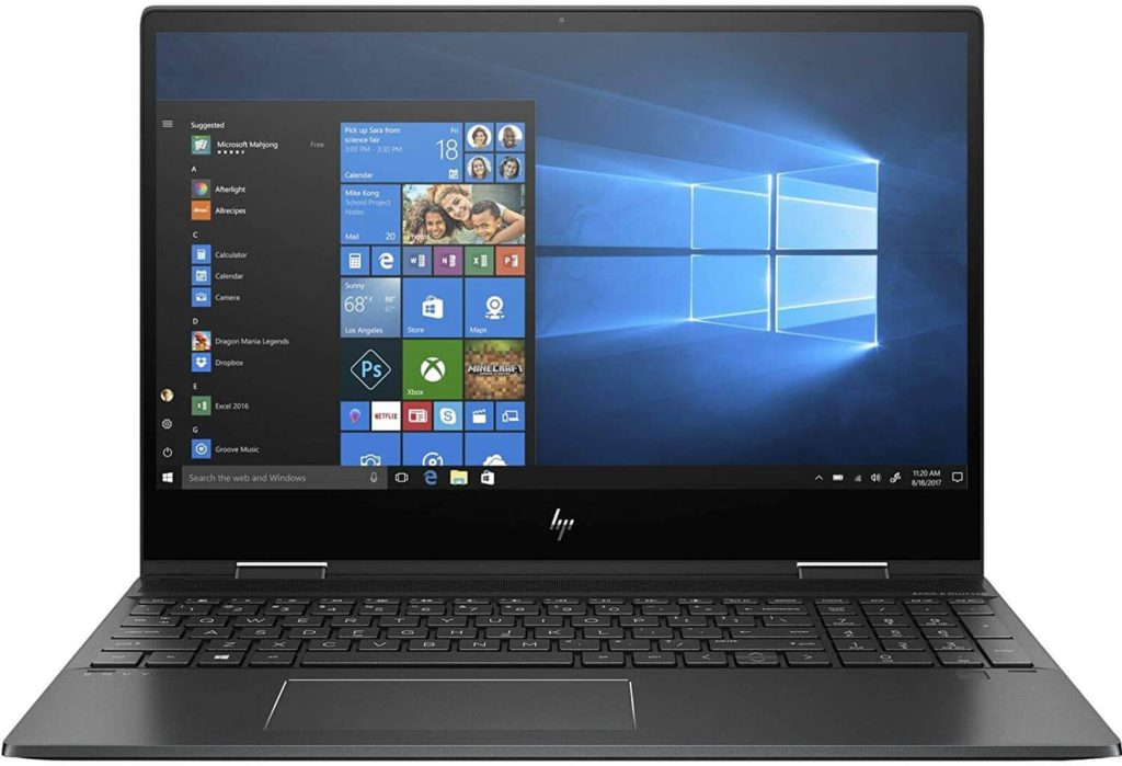 5. HP Envy x360- Best touchscreen laptop with numeric keypad