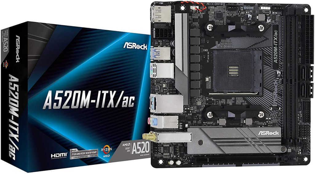 1 ASRock A520M-ITX- Cheap AMD A4 chipset motherboard