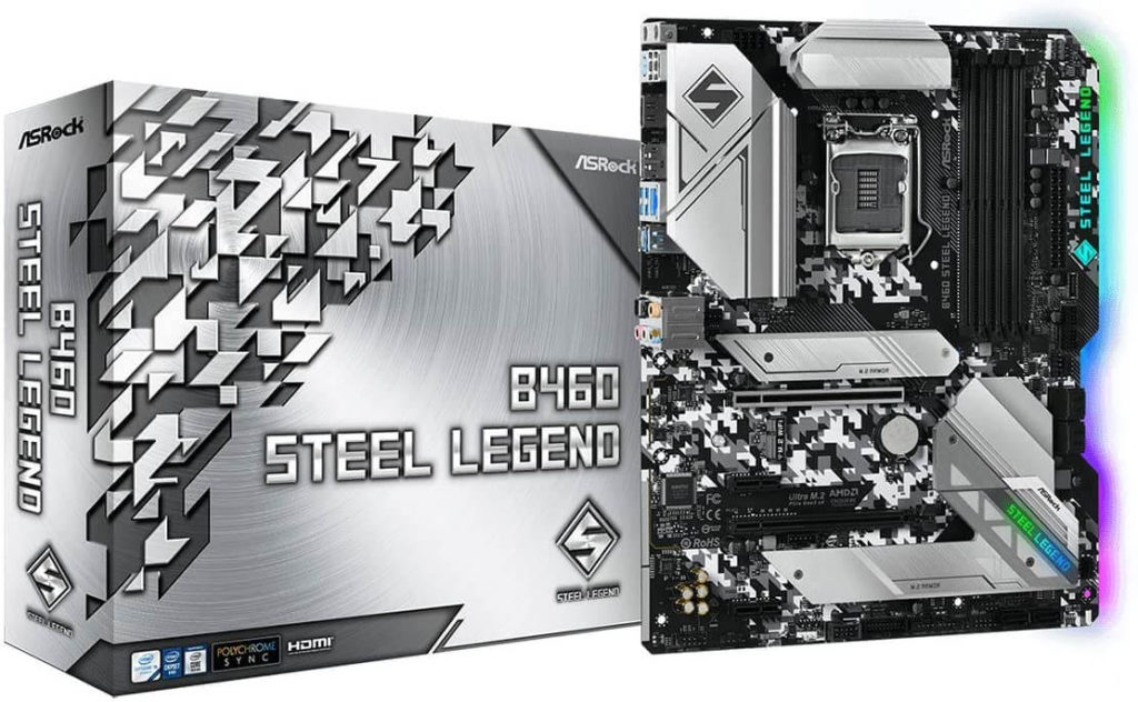 1 ASRock B460 STEEL LEGEND cheap motherboard for 10th gen Intel processors