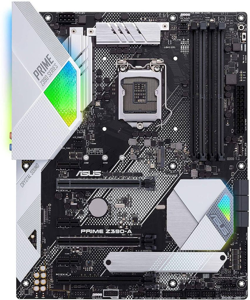 1 ASUS Prime Z390-A overclocking motherboard