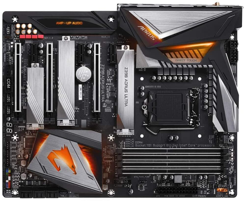2 Gigabyte Z390 Aorus Ultra ATX motherboard for 10th gen cpu