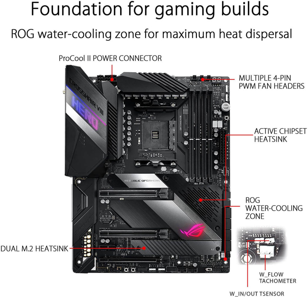 3 ASUS ROG Crosshair VIII Hero AMD motherboard with automatic tuning and overclocking